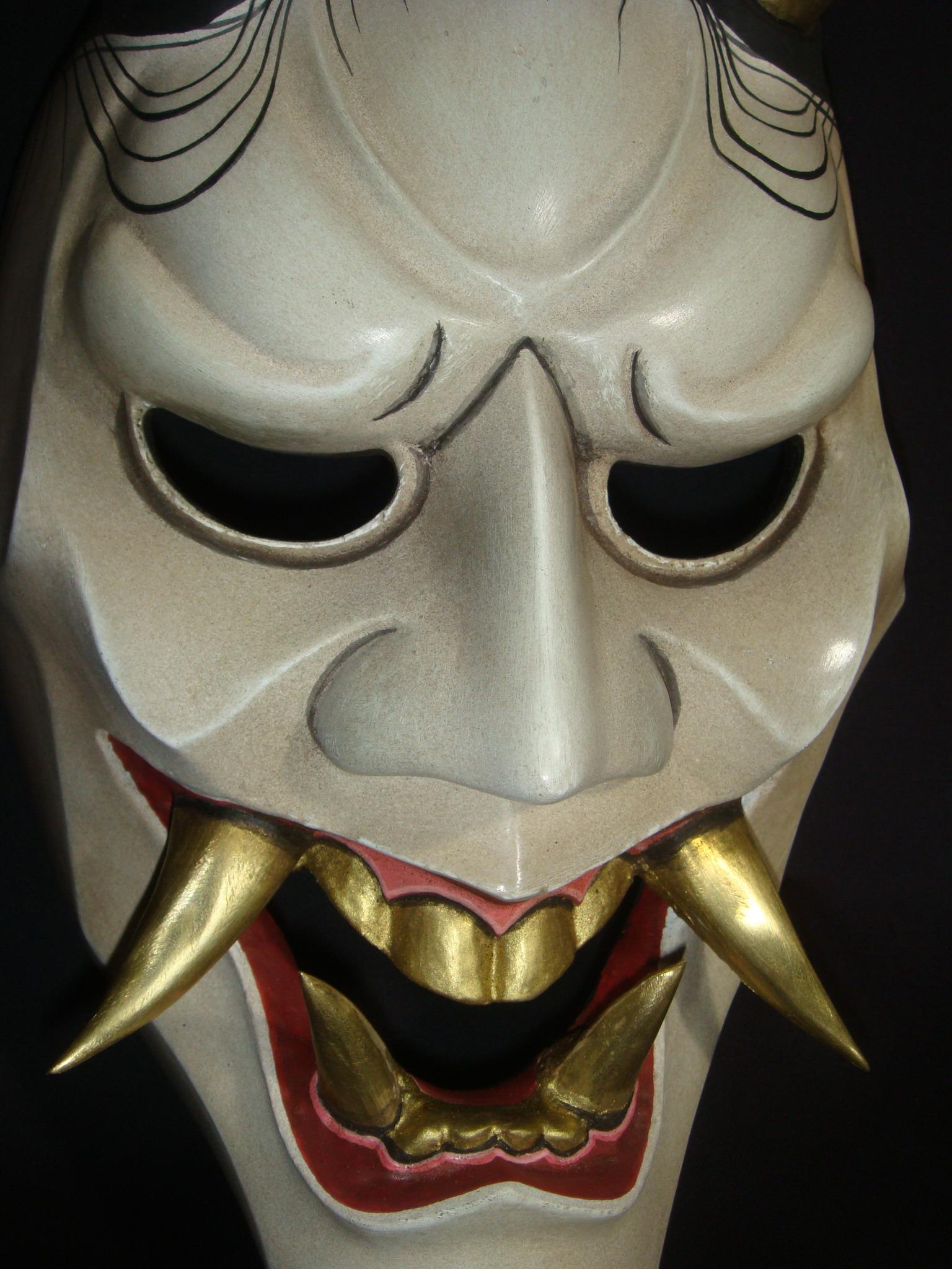 すべての講義 鬼 お面 : Samurai Hannya Mask