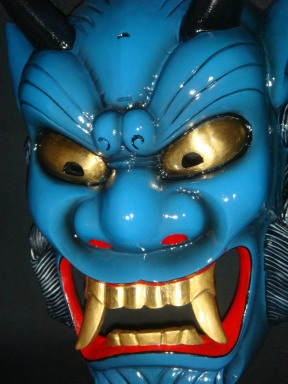 devil mask ao oniblue devil
